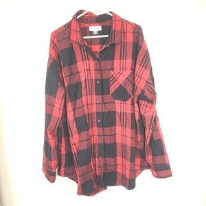 OLD NAVY BLACK AND RED BUFFALO PLAID TOP SIZE XXL